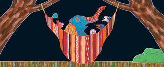 hangmat met olifant