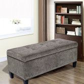 Features:  -Material: Button tufting microfiber (flannelette) and solid wood.  -Shape: Rectangular.  Bench Type: -Bedroom bench.  Seat Material: -Fabric.  Finish: -Black.  Style: -Contemporary.  Patte