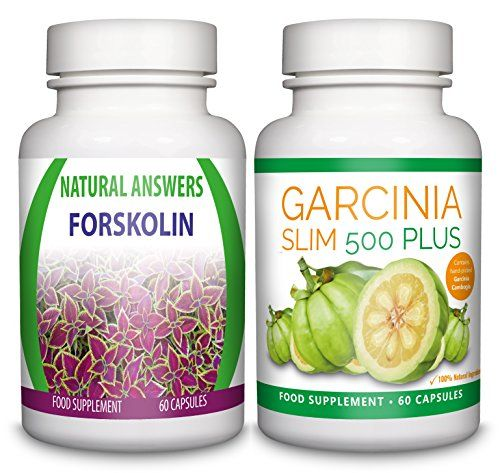 Forskolin by Natural Answers & Garcinia Slim 500 Plus – 1 Month Supply – High Strength 1...
