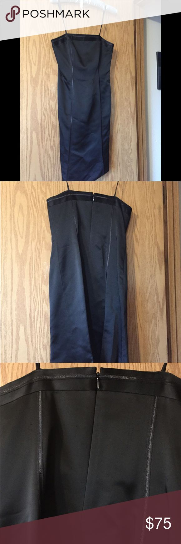 Anne Taylor Petite Black Strapless Dress Anne Taylor Petite Black Strapless Dress. Size 2P.  Sexy strapless dress. Worn once to a ball. Clean & in excellent condition. Good weight to the dress and comfortable. Zips & hooks up on the back.  Length is just below the knees. Great with heels 👠 for that company party or Gala! No trades please. Anne Taylor Petite Dresses Strapless