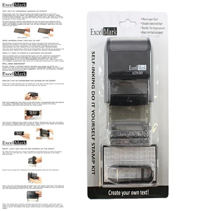 Office Address Stamper Custom Self Inking Stamp Rubber Letter Personalized Kit #ExcelMark