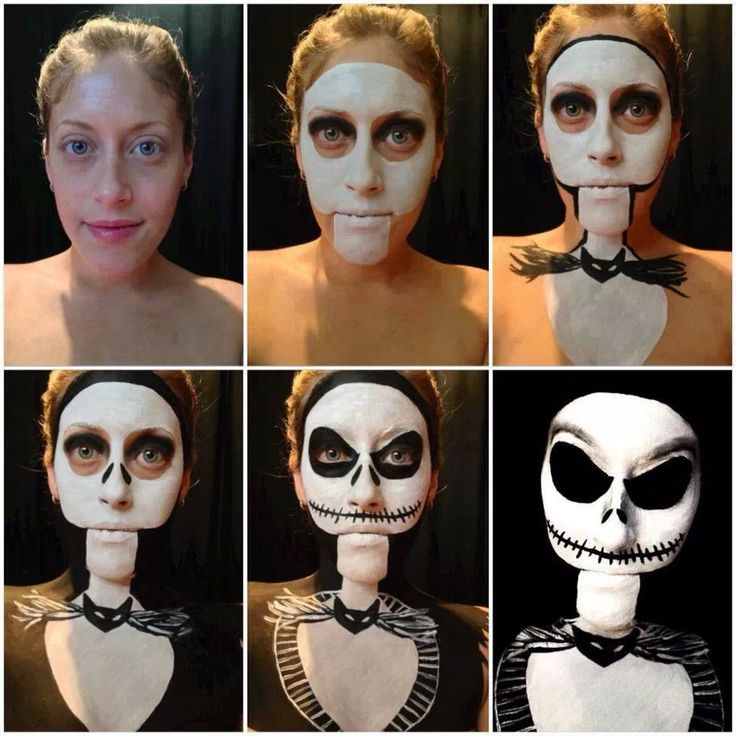 Nightmare Before Christmas Makeup Face Painting