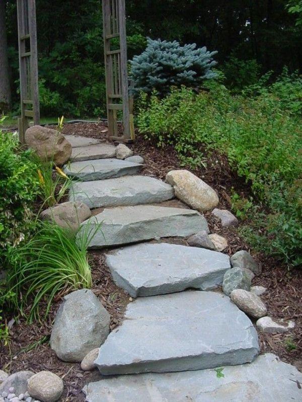 Die besten 25+ Gartentreppe selber bauen naturstein Ideen auf
