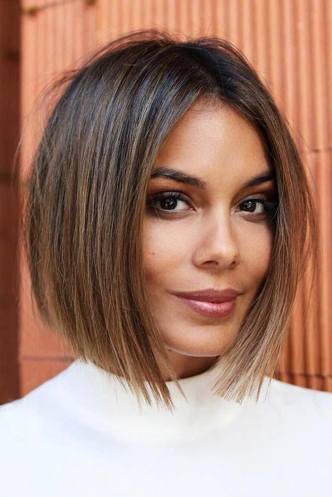 Sleek Blunt Inverted Bob Bob Check Out These Easy Hairstyles For Fine Hair See How You Can Sport Bob Thick Hair Styles Bob Hairstyles Blunt Bob Hairstyles