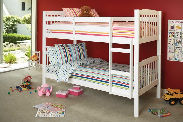Jessica King Single Bunk Bed Frame by Nero Furniture | Harvey Norman New Zealand