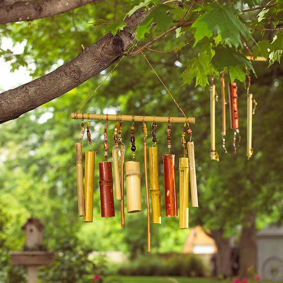 Wind Chimes - simple sounds for the garden, and you can make your own. What better satisfaction?
