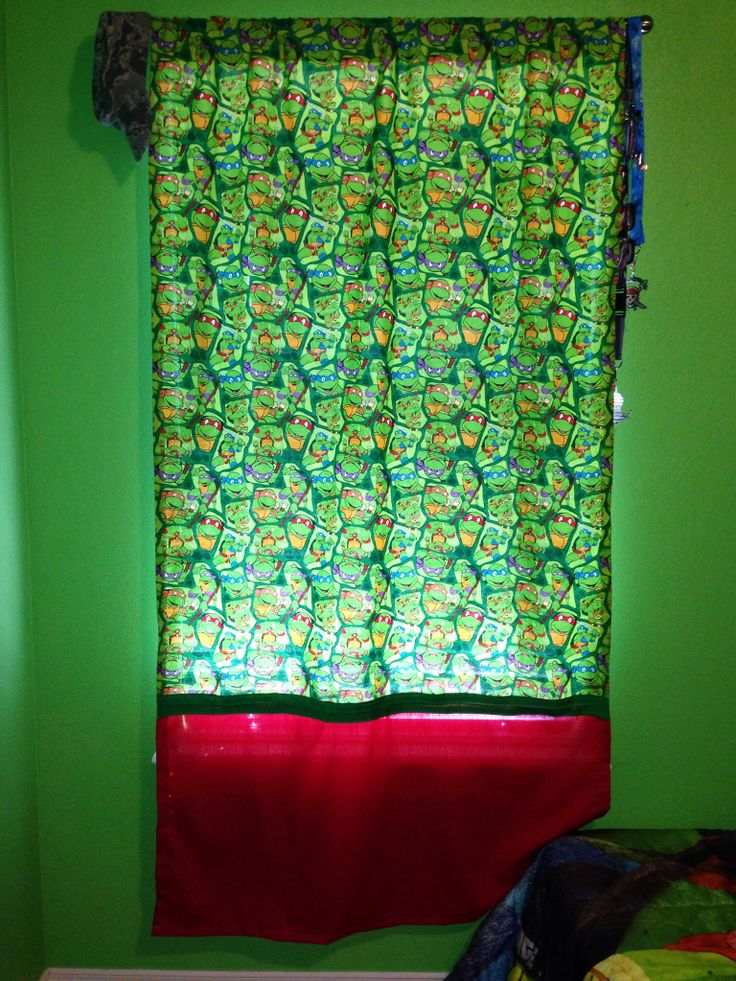 Teenage Mutant Ninja Turtle Curtain Bedroom Ideas
