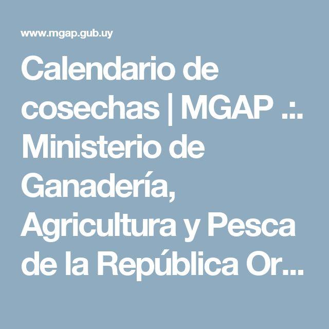 Calendario de cosechas   MGAP .:. Ministerio de Ganadería, Agricultura y Pesca de la República Oriental del Uruguay