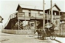 Chatswood Railway Station in the Upper North Shore of Sydney in 1920.