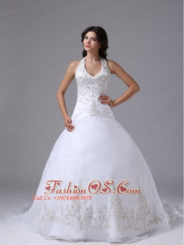 17 best images about halter top appliques beading floor for Cheap wedding dresses bay area