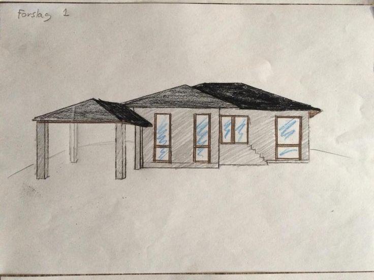 Ombygning forslag 1 (facade)