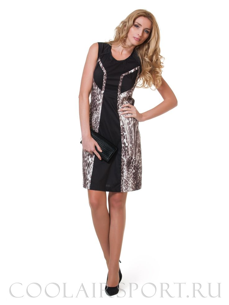 Легкое летнее платье с леопардовым рисунком или принтом зебры в Интернет-магазине одежды COOL AIR - Женская одежда коллекции Весна-Лето 2014 в каталоге летней одежды, модная одежда на весну и лето