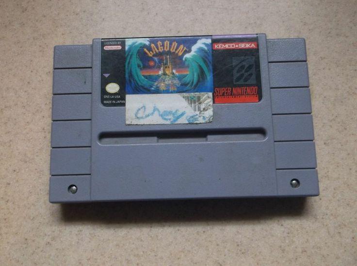 Lagoon (Super Nintendo/SNES, 1991) Game Cartridge