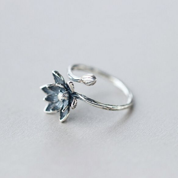 Lotus Flower 925 Sterling Silver Open Rings For Women Retro Style Lady Prevent Allergy Sterling-silver-jewelry  Only $3.28 => Save up to 60% and Free Shipping => Order Now!  #Earrings #Rings #Handmade #Silver Jewelry #Pandora Bracelets #Nature Stone Jewelry #Jewelry #Necklaces #Bracelets