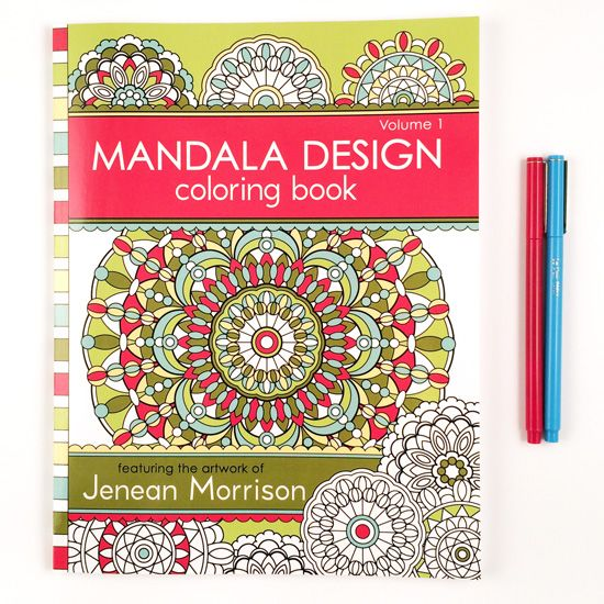 Mandala design coloring book :: Because coloring is a very good thing and can even be like a meditation.