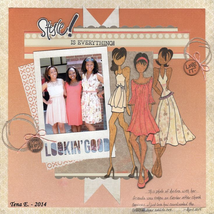 Style! - Scrapbook.com Love the use of the paper dolls on this layout!