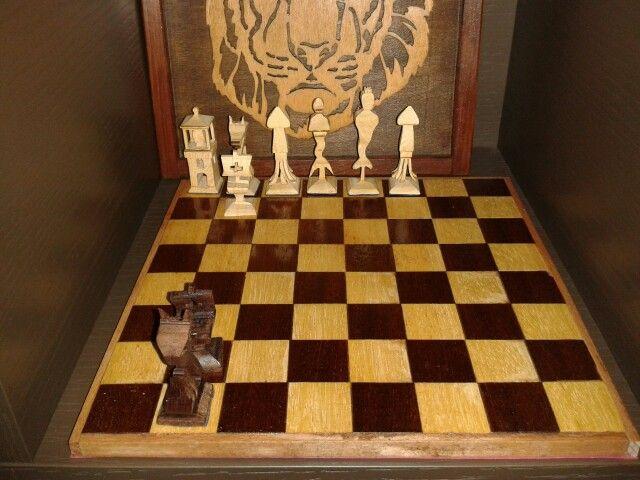Nautical chess set scrollsaw