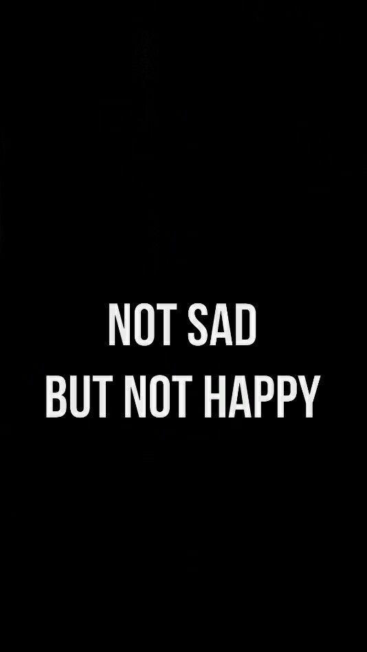 Não triste mas não feliz