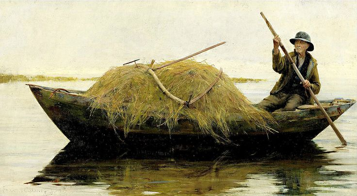 "Coates Jones Francis - Ferrying Hay  (from <a href=""http://www.oldpainters.org/picture.php?/50398/category/16338""></a>)"
