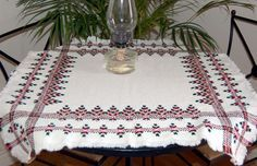 swedish weaving | Swedish weave Scandinavian tablecloth pattern, Swedish weaving ...