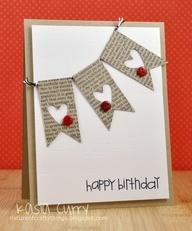 leuke verjaardagskaart met hartjes slinger
