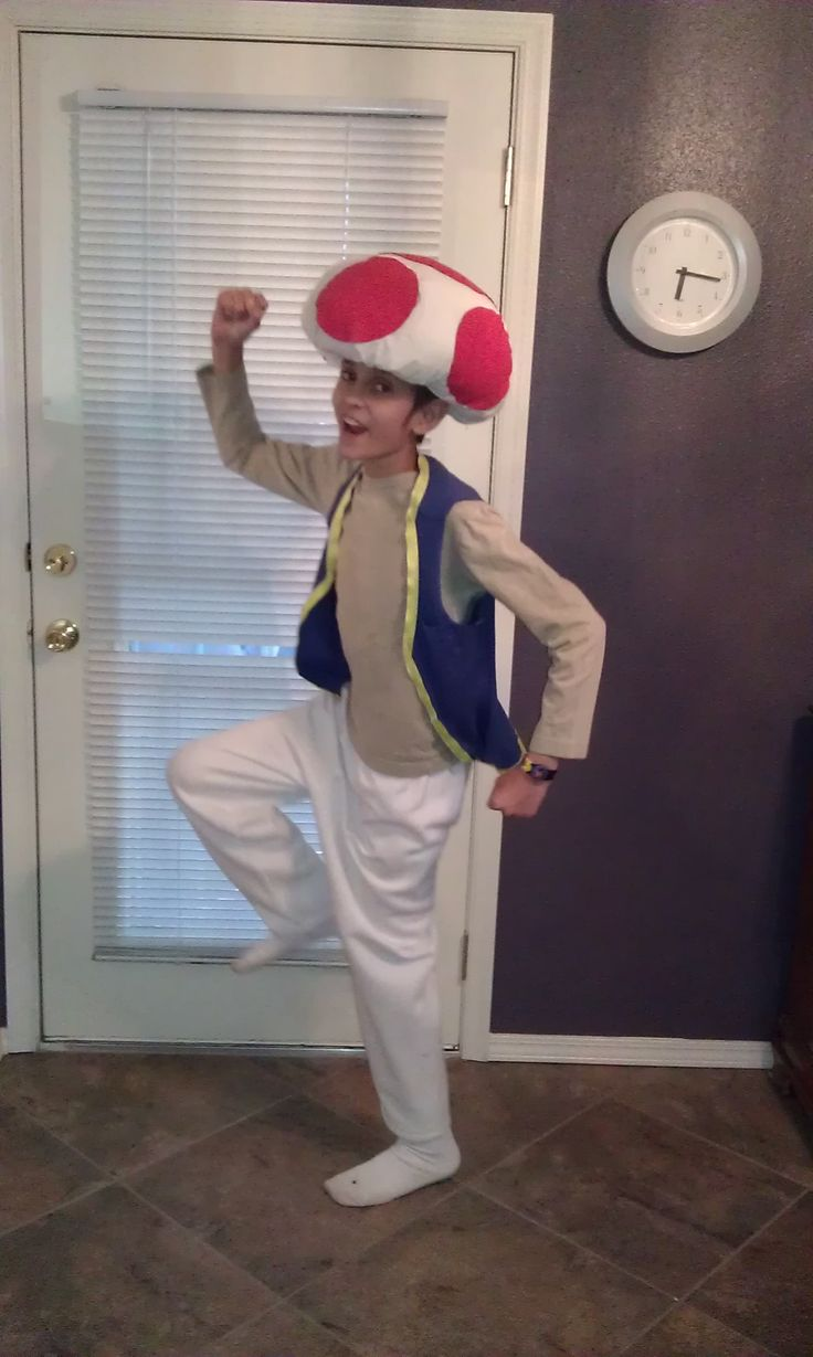 Toad from Super Mario Bros. Super Easy, No Sew, Homemade Halloween Costume                                                                                                                                                                                 More