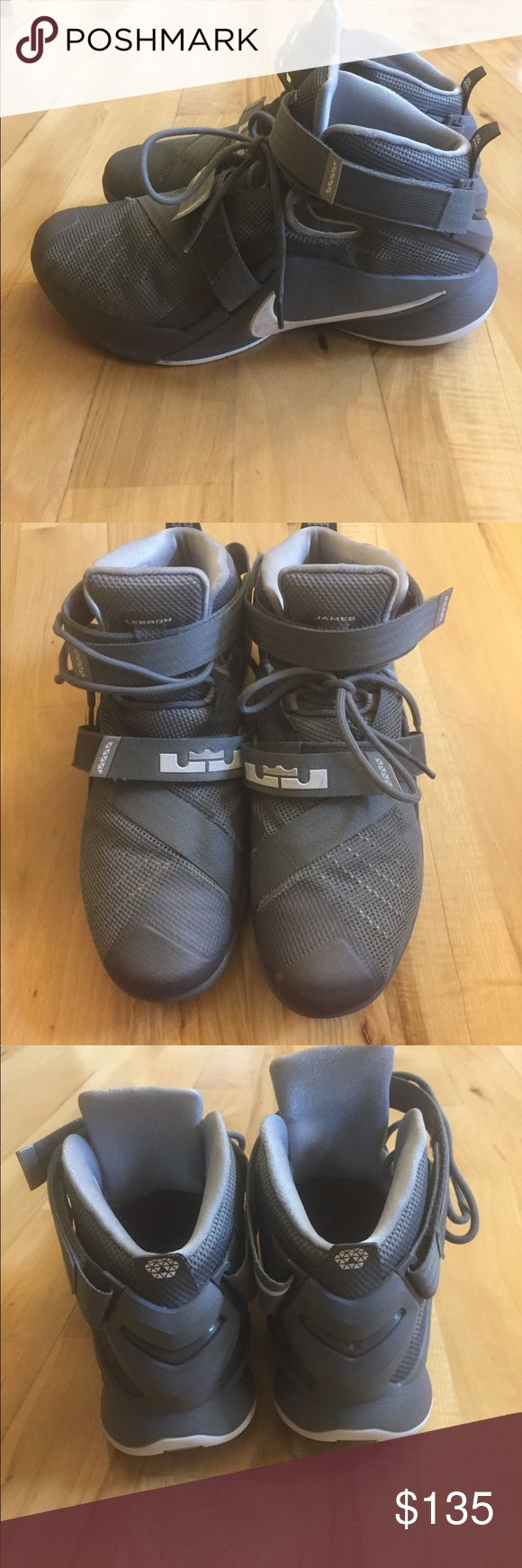 """EUC men's Nike size 10.5 """"Lebron James"""" shoes Excellent used condition men's size 10.5 """"lebron James soldier IV"""" shoes. These were worn very few times and only show very minor areas of wear-as shown in the photos Nike Shoes"""