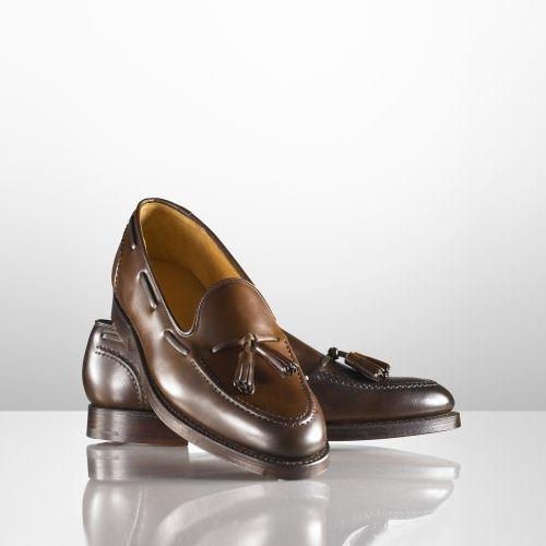 $850, Dark Brown Leather Tassel Loafers: Ralph Lauren Marlow Tassel Loafer. Sold by Ralph Lauren. Click for more info: http://lookastic.com/men/shop_items/170318/redirect