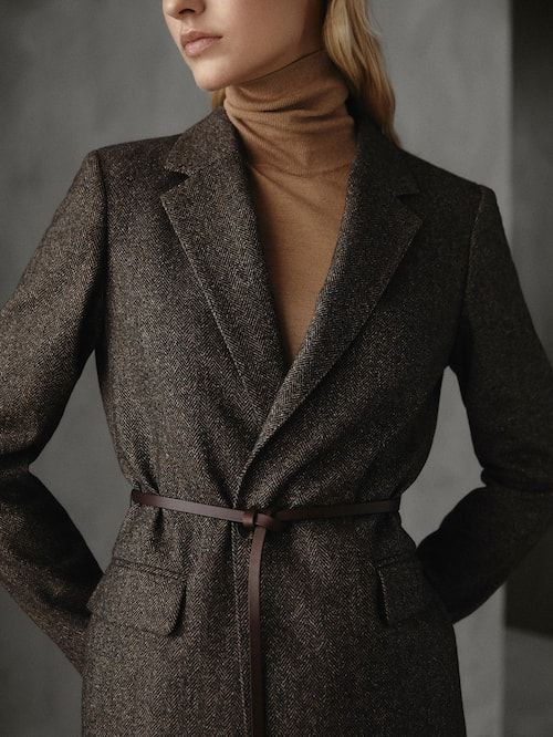 AMERICANA LANA ESPIGA SLIM FIT WINTER CAPSULE - Mujer - Massimo Dutti España d65234ef729d