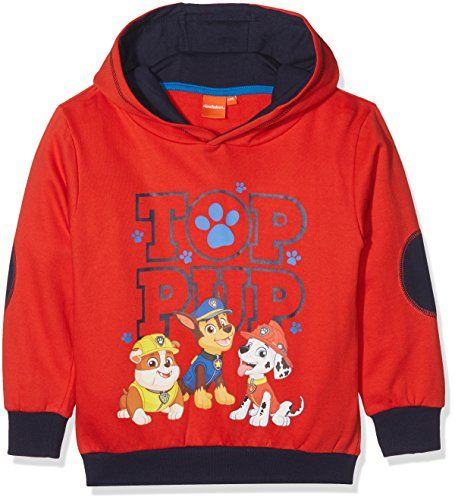Paw Patrol Hoody Sweat-Shirt àCapuche Garçon Multicolore (Red/Navy) 6 Ans (Taille Fabricant: 6)