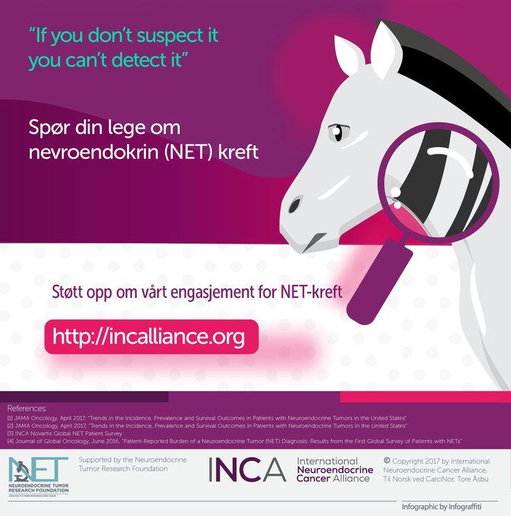 Hjelp oss å øke oppmerksomheten om NET-kreft over hele verden. Bruk emneknagg #letstalkaboutNETs for å dele informasjon