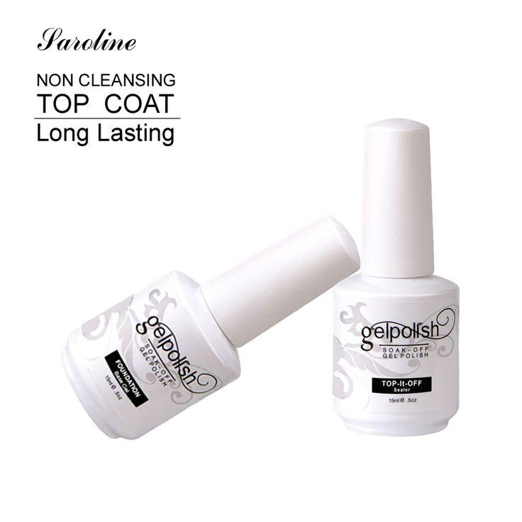 Saroline Base Coat Top Coat Nails Żel UV 15 ml Gelpolish Paznokci Soak Off Gel Lacquer Lakiery UV Gel Nail Primer w Paznokci Art