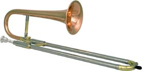 Bb Soprano Trombone, also referred to as a slide trumpet. http://www.youtube.com/watch?v=DKlvqbBWy3Y
