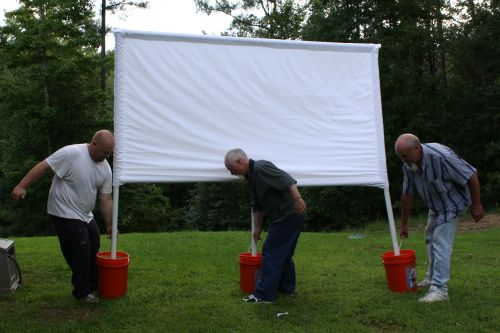 Did you see my post about how to build an outdoor movie screen? I'm building up to a post on how we hosted our own Backyard Theater Party. So, now th