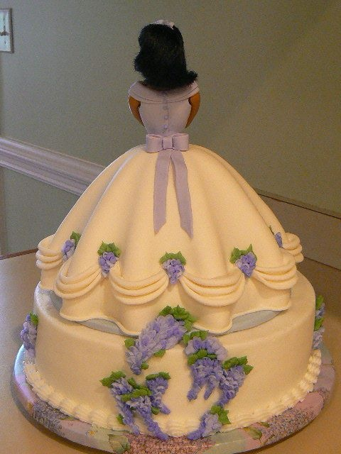 Doll Cake (back view) - (wanted to show the back of the doll cake)