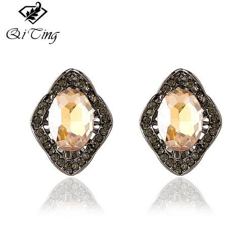 2017 Elegant Mada Retro Vintage Sliver Clip Earrings For Women Bohemia Rosalarsjewelry