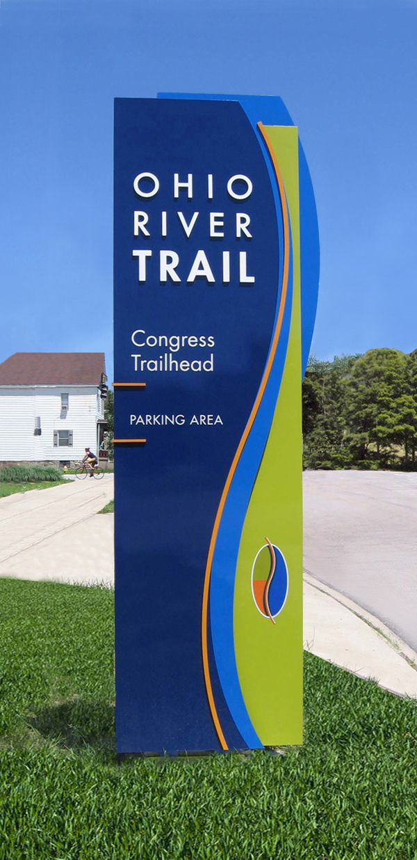 Ohio River Trail Wayfinding Signage by Heather Lo, via Behance