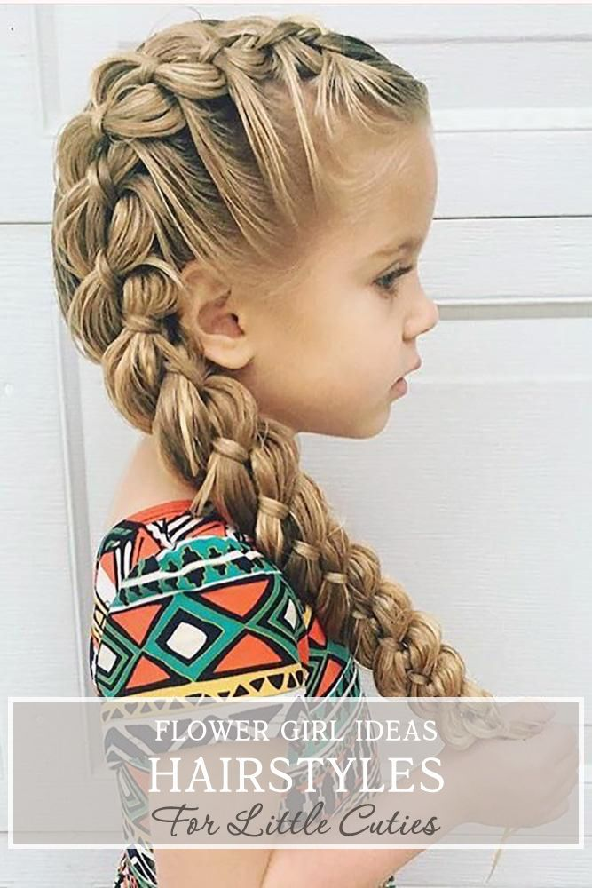 33 Flower Girl Hairstyles For Little Cutie ❤ What kind of hairstyle do you plan for the beautiful flower girl having? We have a wonderful list of hairstyles for all wedding themes right here. #wedding #hairstyles #weddinghairstyles #flowergirlhairstyles