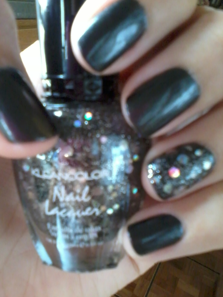 Charcoal pearl by nix and black out by kleancolor