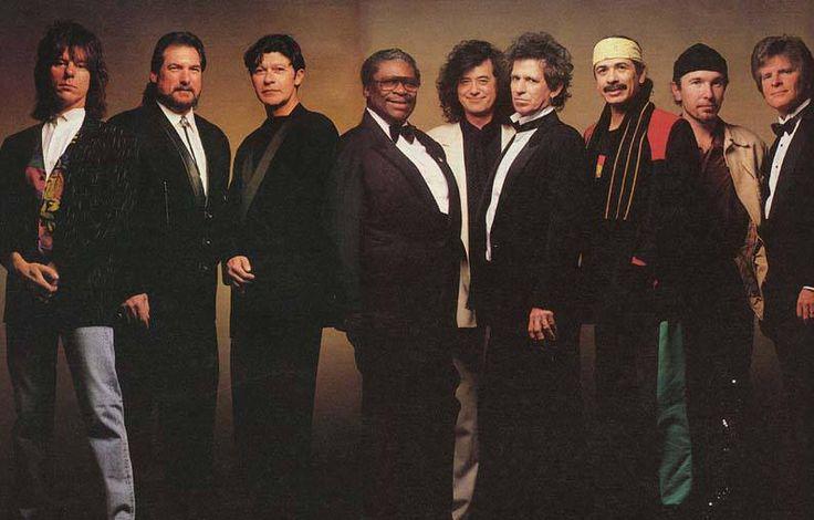 Jeff Beck, Steve Cropper, Robbie Robertson, BB King, Jimmy Page, Keith Richards, Carlos Santana, John Fogerty and The Edge - wOw.