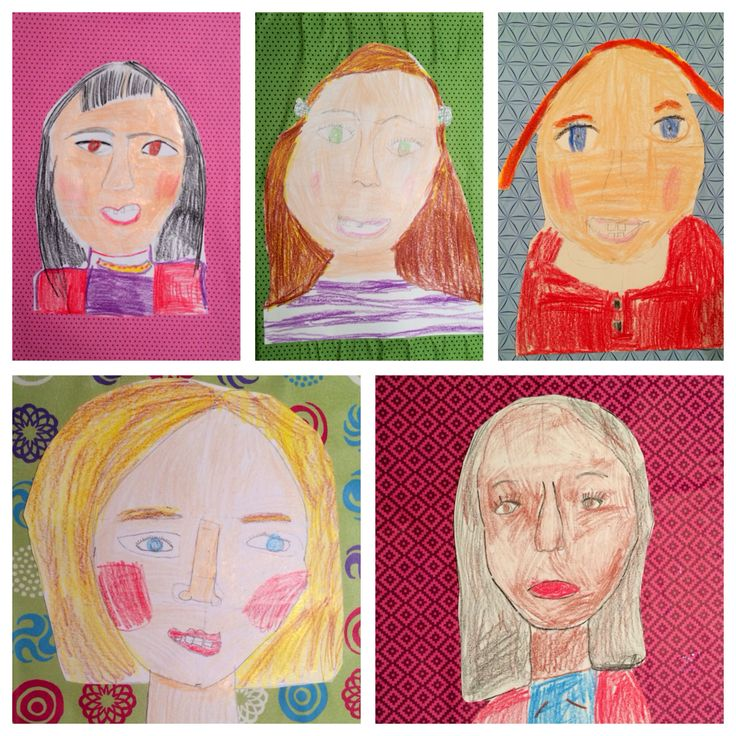 Today's self portrait party artist aged 7-8.