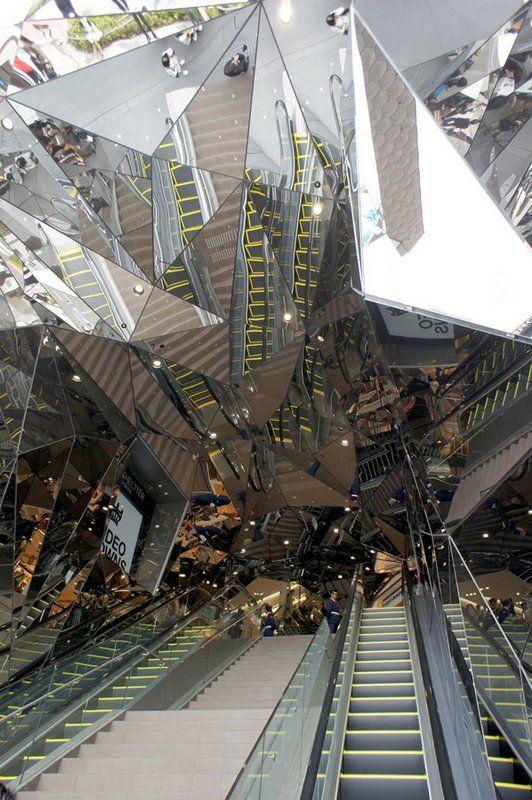 ✮ Tokyu Plaza Omotesando Harajuku by Hiroshi Nakamura, Japan#mydesignagenda #tokyodesign