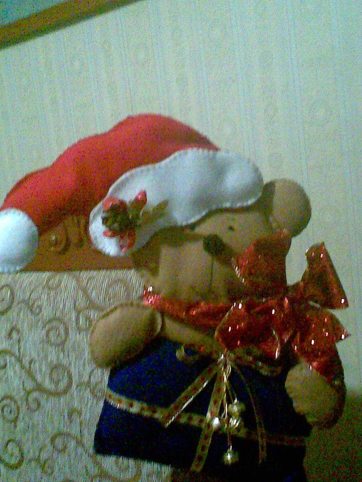 este fue mi primer trabajo, un lindo oso navideño