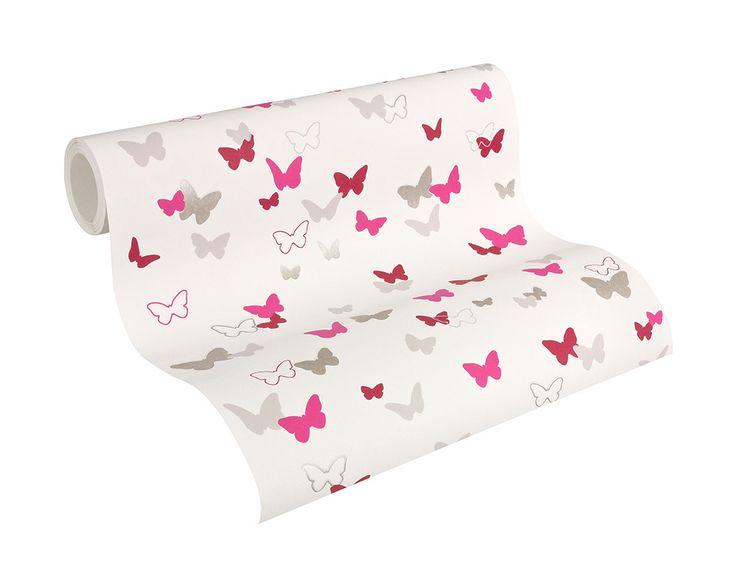 Kindertapete mit Schmetterlingen von Esprit home Tapete 302892 und A.S. Création #tapetenshop #kinderzimmertapeten #EspritKids