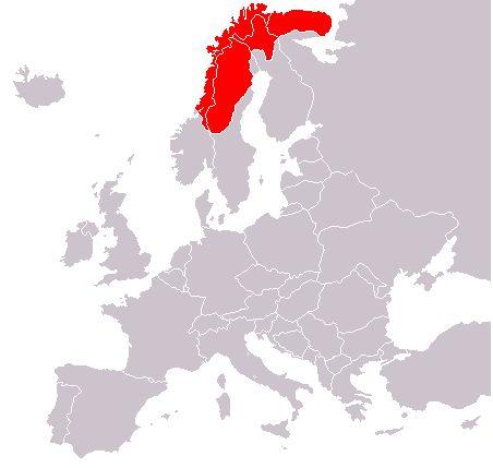 Map of Sami territory