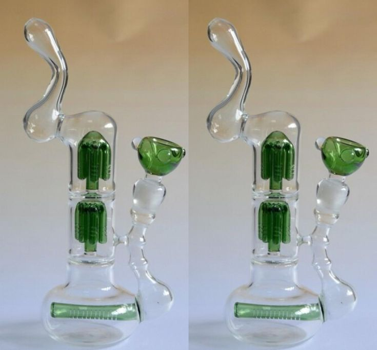 unique bongs | Unique Green Glass Smoking Bongs With Recylers Clear Glass ...