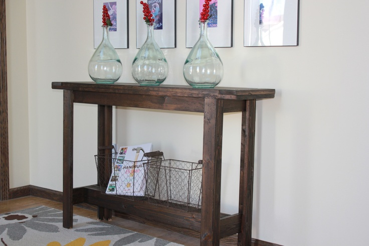 Entry Way Console Table Via Ana White's Plans