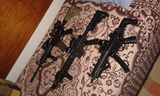 """M4 ICS+M4 LONE STAR 9""""+MP5A3 CA RIS"""