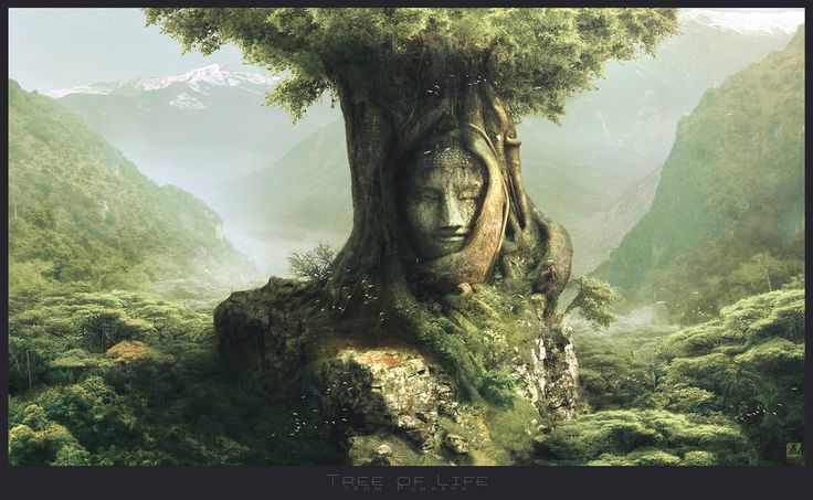 Asketræer, lind eller elm, der gror ved en gård kaldes ofte et vogtertræ eller vårdträd  - på svensk -. det våger over den stedlige familie og passer på gården. Måske en fjern slægtning til 'den grønne mand' fra keltisk mytologi.