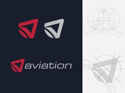 """""""A"""" For Aviation Logo Concept with Golden Ratio"""